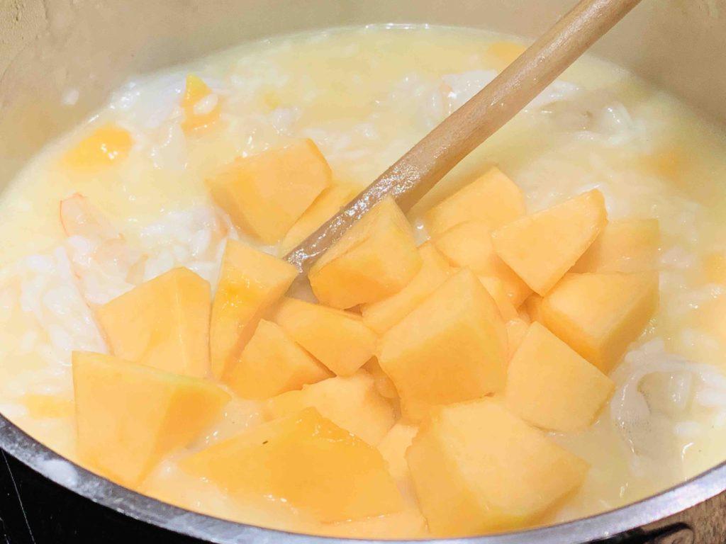 risotto meloen scampi