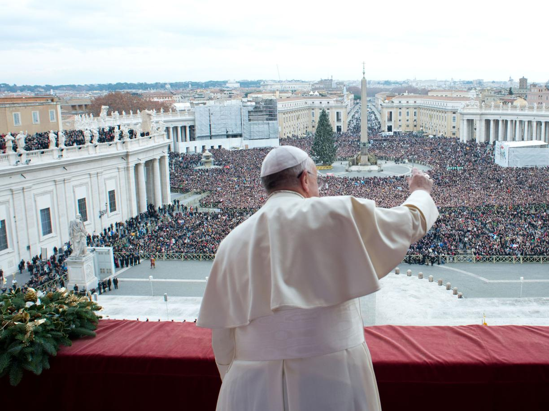 Paus kerstmis urbi et orbi
